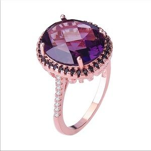 New Luxury Rose Gold Diamond Bridal Ring